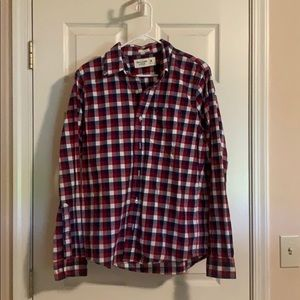 Men's Abercrombie & Fitch Muscle Button Down Med